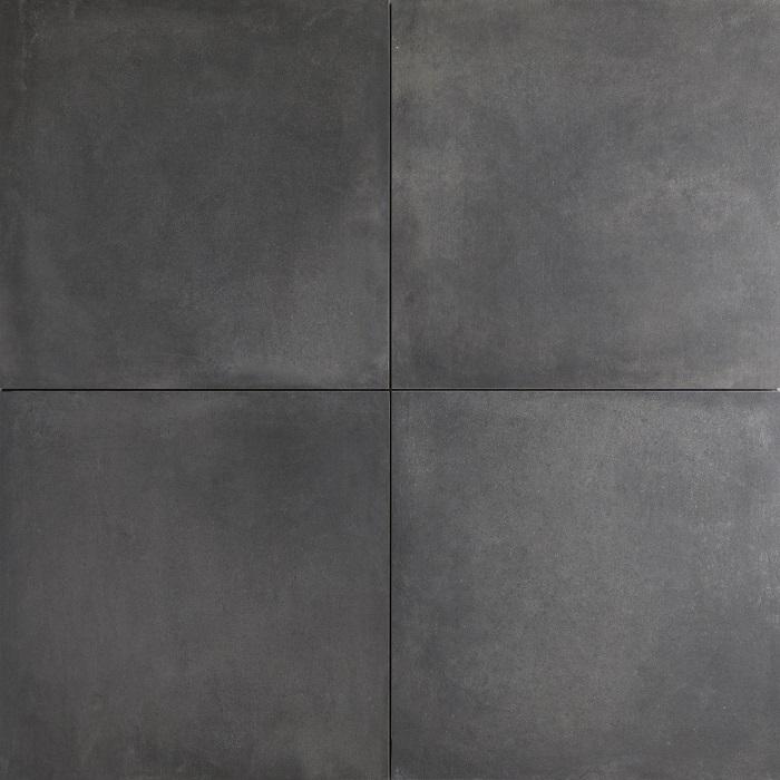 Keramische tegels terrastegel keramiek concrete look black 60x60 cm - Cement tegels geloofwaardigheid ...
