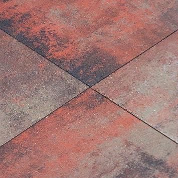 Actie tegels bestrating metro carre tuintegel amazon 50x50 cm - Tegel metro bordeaux ...