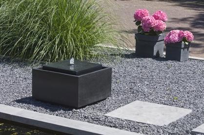 Waterornamenten waterbasin sonora met led verlichting for Waterornament tuin