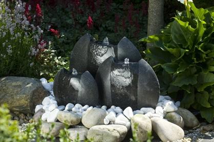 Waterornamenten: Waterbollenset ovaal met LED verlichting